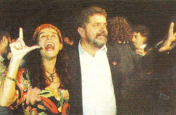 Lucélia Santos e Lula