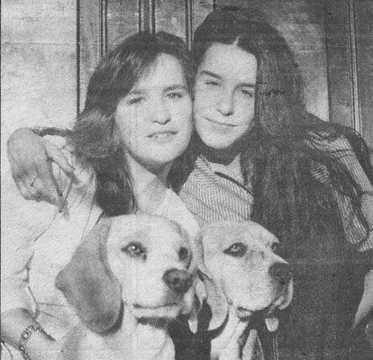 Lucélia e a Irmã Cristina Santos