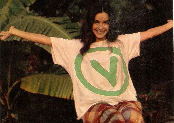Lucélia Santos com a camisa do partido