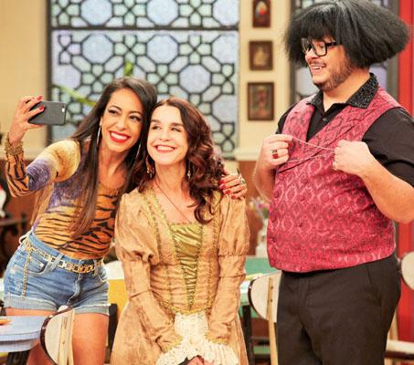 Samanta Schumtz, Lucélia Santos e Marcus Majella