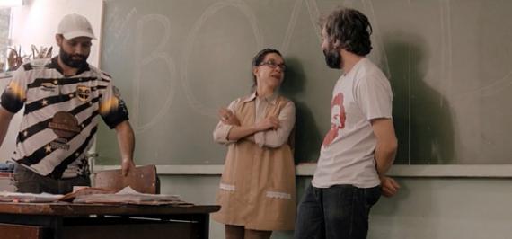 Bastidores - Lucélia Santos e o Diretor Diego da Costa